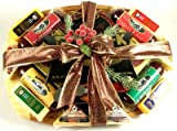 Gourmet Meat and Cheese Gift Basket with Cutting Board