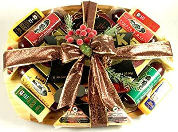 Image Unavailable. Image not available for. Color: Executive Class Sausage and Cheese Gift Basket ...