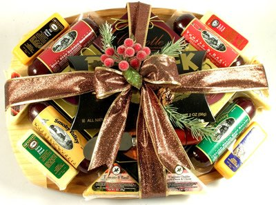 The Finest Gourmet Meat and Cheese Gift Basket by Organic Stores