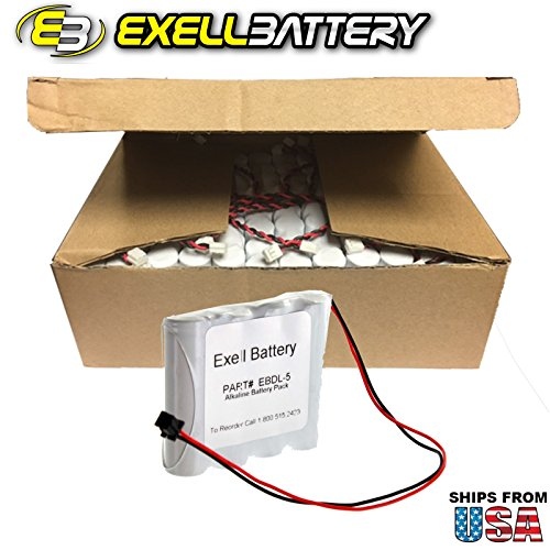 24pcs Exell Battery Door Lock 6V Battery Fits Saflok S7400-12 Replaces HTL5, SafLok and Intellis 884952, HTL-3, S7400-12 USA SHIP by Exell Battery
