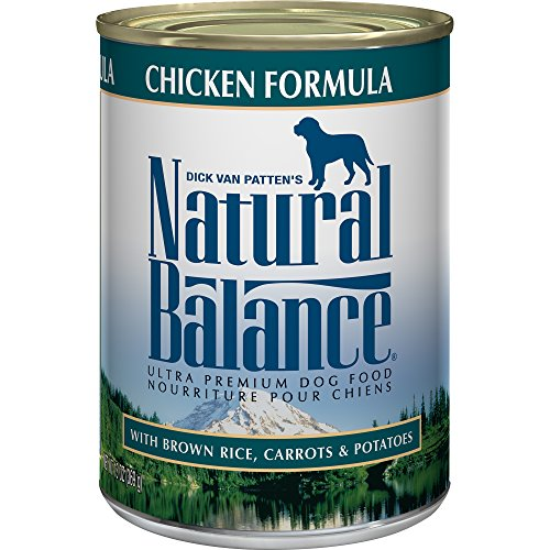 Natural Balance Ultra Premium Wet Dog Food, Chicken Formula with Brown Rice, Carrots & Potatoes, 13 Ounce Can (Pack of 12)