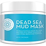 Dead Sea Mud Mask 8.8 Oz Jar | Spa Quality Face Mask for Premium Skin Care | Charcoal and Bentonite Clay | Cleanser, Pore Minimizer, Oily Skin Control and Acne Treatment for Men's and Women's Facials
