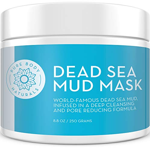 Pure Body Naturals Dead Sea Mud Mask, 8.8 oz | Premium Face Mask for Spa Owners | Dead Sea Mud, Charcoal and Bentonite Clay | Cleanser, Pore Minimizer, Oily Skin Control for Men's and Women's Facials