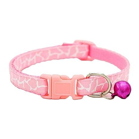 Collar ajustable moderno con cascabel láser para perros pequeños, cachorros, gatos y otras mascotas