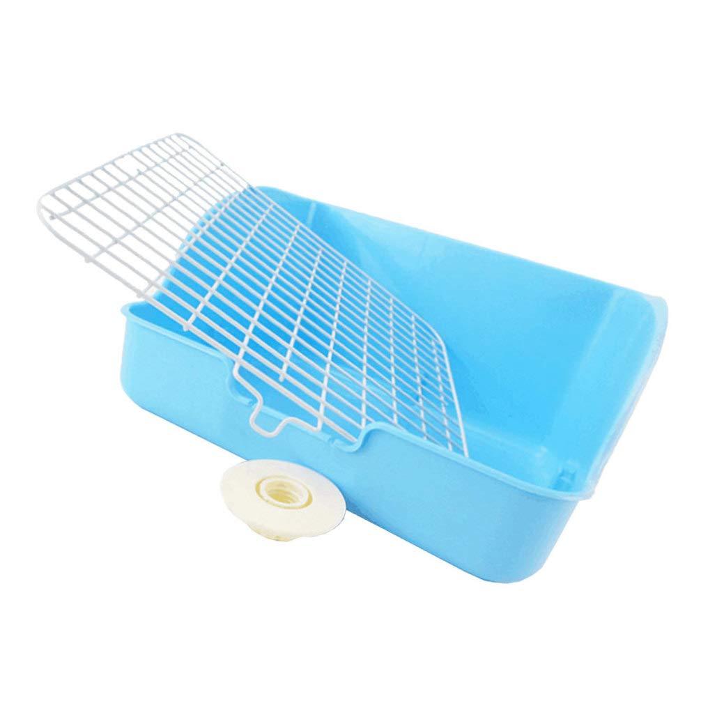 Square Potty Trainer Corner Cage Litter Bedding Box LitterPan for Small Animals Guinea Pig Bedding Pet Small Rat Toilet POPETPOP Rabbit Litter Box