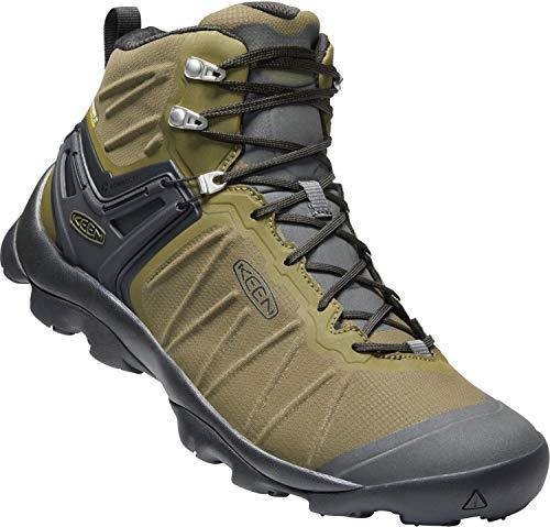 KEEN - Men's Venture Mid Waterproof Hiking Boot, Dark Olive/Raven, 9.5 US (Best Snow Gear 2019)