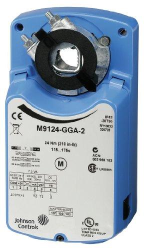 Johnson Controls M9124-AGA-2 Series M9124 Electric Non-Spring-Return Actuator, On/Off/Floating Control, 24 Nm Torque