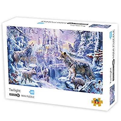 Puzzles for Adults – 1000 Piece Twilight Jigsaw Puzzle - Europe Puzzle - Adults Children Educational Puzzles Games - Castle and Wolf Jigsaw - Nature Puzzle: Toys & Games