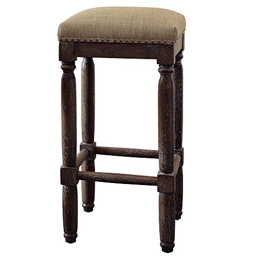Renate Coffee Bar Stools (Set of 2) Linen Seat High 30 in...