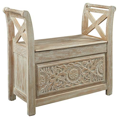 Signature Design by Ashley A4000001 Accent Bench, Fossil Ridge