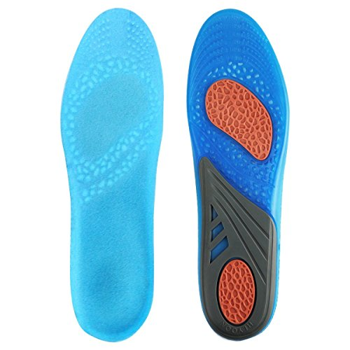 AziPro GEL Sports Comfort Cuttable Insoles for for Shock Absorption, Heel...