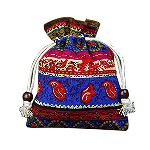 Chinese wedding favors amazon set of 10 chinese style wedding cloth bags decorative boxes bags blue junglespirit Gallery
