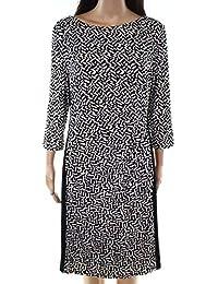 $135 Womens New 1330 Black Printed Long Sleeve Body Con...