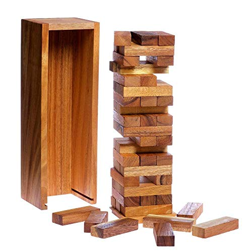 Woody's Tower Game (11.5 Int) - Handmade from Natural Thai Pine