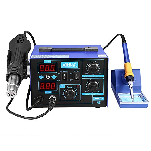 YiHua SMD Soldering Station Hot Air Gun 2in1 Solder Iron Rework Desoldering Tool...