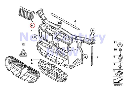 BMW Genuine Right Oil Cooler Air Duct 335i 335xi 335d 335i 335xi 335i 335xi 335is 335i 335i 335is