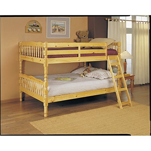 Finish Natural Homestead - ACME 02290 Homestead Full Bunk Bed, Natural Finish