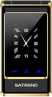Wafalano A15 Flip Double Screen Mobile Phone Écran de 3,0 Pouces 240 * 320 Pixels Résolution Double Carte Double Veille Cellphone 0 Pouces 240 * 320 Pixels Résolution Double Carte Double Veille Cellphone