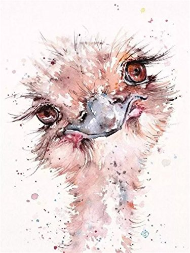 Cross Ostrich (LIPHISFUN Diamond Painting Kits for Adults Full Drill Square Resin Rhinestone Embroidery Unfinished Cross Stitch Home Decor Gift Ostrich(30x40cm))