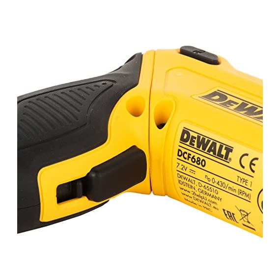 DEWALT DCF680G2-GB 7.2V 6.35 mm XR Li Ion Cordless Motion Activated Screwdriver with 2x1.0 Ah batteries included 3