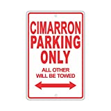 """CADILLAC CIMARRON Parking Only All Others Will Be Towed Ridiculous Funny Novelty Garage Aluminum 12""""x18"""" Sign Plate"""