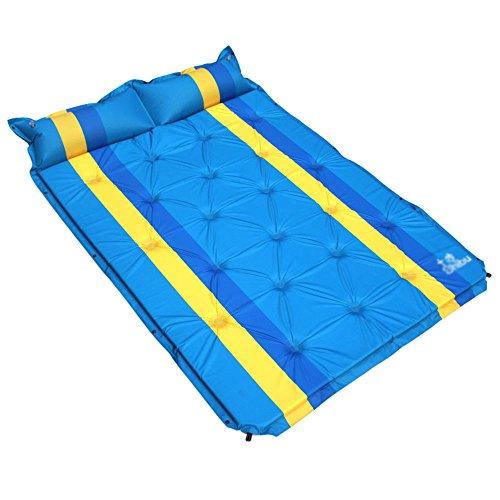XIAOEMI Car Travel Bed Inflation Nap Mat Stripe Mattress Outdoor Camping Multifunction Split Type (Color : (Spinning Travel Bearings)