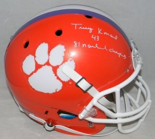 Terry Kinard Autographed Clemson Tigers Full Size Helmet - JSA Authentication with 81 Champs