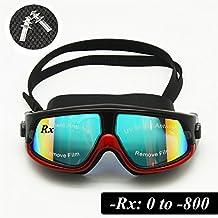 Rx Prescription Swim Goggles Myopia Swimming Glasses Optical Corrective Snorkel Mask Free Ear Plugs