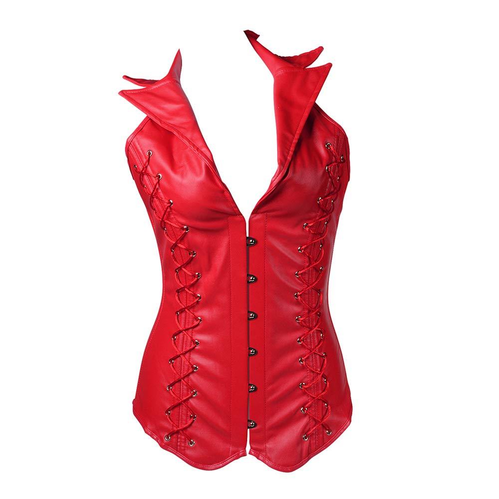 SHOULLT 女性のビスチェプラスサイズの革製のコルセットの女性のためのコルセットチェストウエストコルセット  XL B07STB8P39