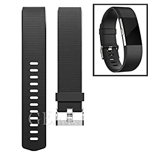 Replacement Bands for Fitbit Charge 2, Fitbit Charge2 Wristbands,Large,Black