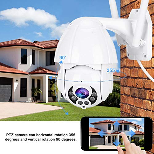 Jingyig Outdoor Security Cam, Two-Way Audio System IP66 Security Camera, PTZ Security Camera, for Garage Family(European regulations)