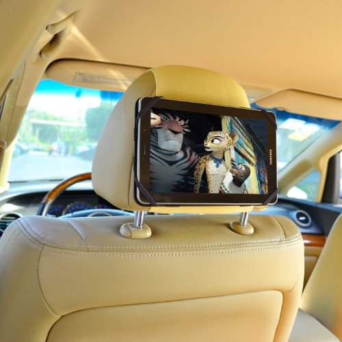 TFY 7-Inch Tablet PC Car Headrest Mount, Fast-Attach Fast-Re