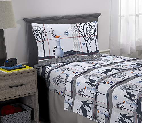 Franco Kids Bedding Super Soft Flannel Sheet Set, 3 Piece Twin Size, Disney Frozen 2 Olaf (Disney Frozen Olaf Pillowcase)