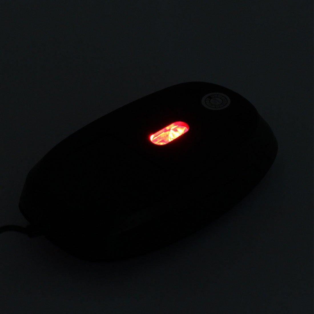 Amazon.com: eDealMax PC portátil DE 3 botones de la luz roja LED USB ratón óptico de 800 DPI ratones púrpura: Electronics