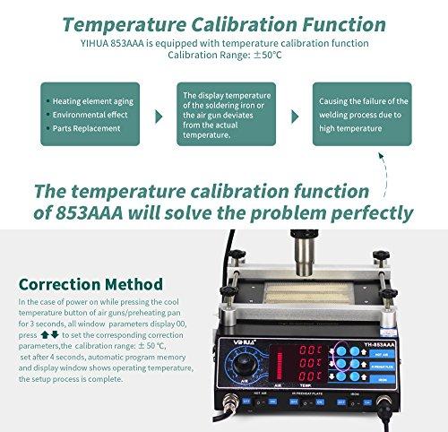 YIHUA 853AAA Soldering Station BGA Rework Preheating Hot Air Gun Solder Iron Set