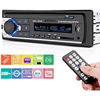 Car Stereo, Huicocy Universal In-Dash Single Din Car Radio Receiver Car Stereo with Bluetooth MP3 Player/USB/SD Card/AUX/FM Radio with Remote Control
