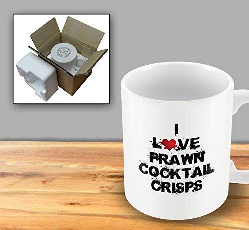 I Love Food Mug - Prawn Cocktail Crisps - Mug by The Victorian Printing Company - Crisp Printing