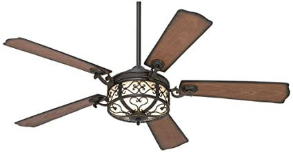 54u0026quot; Hermitage Golden Forged Outdoor Ceiling Fan