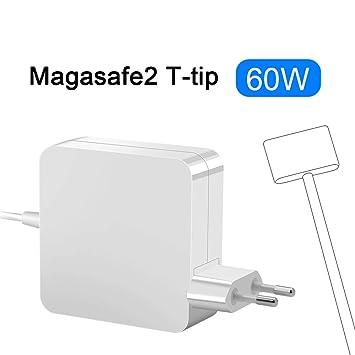 Rocketek Compatible 60W Mac Book Pro Cargador, Magsafe 2 Adaptador de Corriente con Punta en T T-Tip Conector magnético Cargador para A1425 A1435 1502 ...