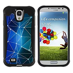 Suave TPU GEL Carcasa Funda Silicona Blando Estuche Caso de protección (para) Samsung Galaxy S4 IV I9500 / CECELL Phone case / / Shapes Blue Stars Lights Night /