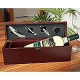 Weißwein Chardonnay Cantina Castelnuovo del Garda, in edler Wein-Schatulle mit Ihrer Widmung, inklusive 4 Wein-Accessoires: Korkenzieher, Tropfring, Ausgießer und Flaschen-Verschluss - von Geschenke mit Namen