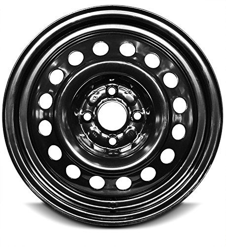 Road Ready Car Wheel For 2003-2007 Ion Saturn 15 Inch 4 Lug Black Steel Rim Fits R15 Tire - Exact OEM Replacement - Full-Size Spare ()