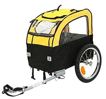 Remolque plegable con transportín para llevar en bicicleta perros de hasta 25 kg, ligero y con buena ventilación, para disfrutar de excursiones con tu ...
