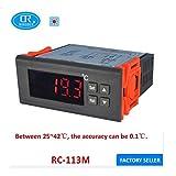 RINGDER RC-113M 110V60HZ PID Heat Brooding Hatching Regulator Digital Thermostat Temperature Controller for Incubator Lab Model: RC-113M
