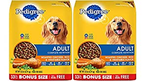Pedigree Complete Nutrition Adult Dry Dog Food, Chicken, 33 lbs. (2 Bags)