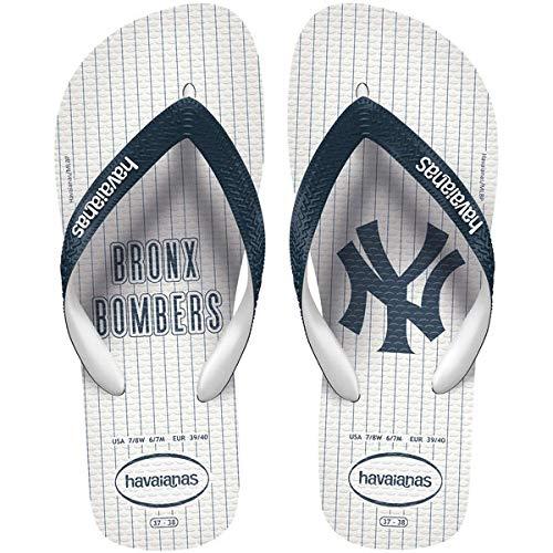 Havaianas Unisex Top MLB NY Yankees Sandal (45-46 M Bra (US M 13), White)
