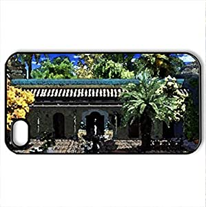 Amazing Home - Case Cover for iPhone 4 and 4s (Houses Series, Watercolor style, Black)