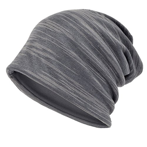 Gorro Slouch largo holgado para hombre Gorro de invierno de verano B301 B011h-Grey