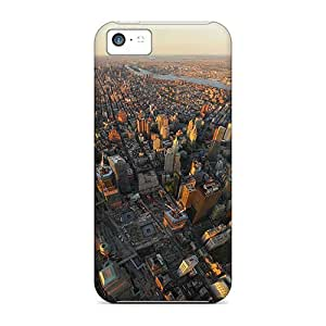 Tpu Case Cover Compatible For Iphone 5c/ Hot Case/ Big City