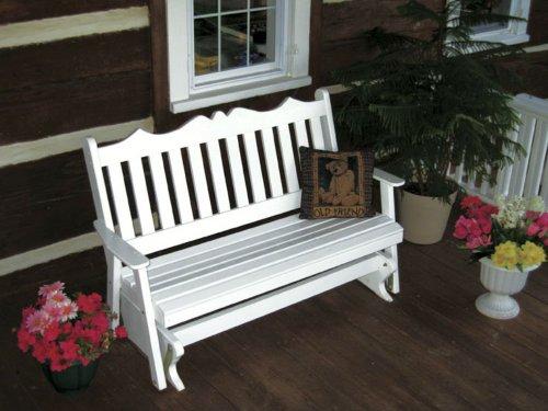 Furniture Barn Outdoor 4 Foot Royal English Porch Glider ...